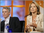 Katie Couric (with CBS News President Sean McManus, left)
