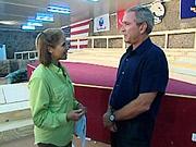 Katie Couric interviews President Bush in Iraq on Sept. 3.