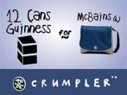 Bring in some beer to the Crumpler New York stores and get a free trendy bag.