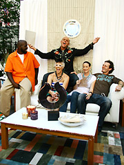 The winning members of Team B celebrate in their serenity corner.