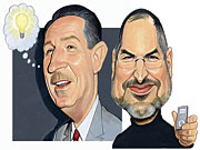 Two of the brand-designing giants of the last century are Walt Disney and Steve Jobs.