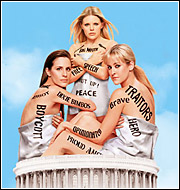 A new movie about the Dixie Chicks, as they appeared on the cover of 'Entertainment Weekly,' that examines censorship is itself the victim of network censors, the movie's distributor says.