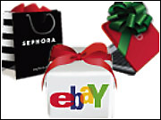 Facebook's current holiday promotion features gifts sponsored by Dell, eBay and Sephora.