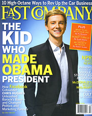 Why was Fast Company the only one of the 21 magazines nominated for a general-excellence award to report a year-over-year increase in ad pages in 2008?