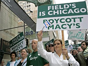 Since early October, following the conversion of May Co.'s Marshall Field's stores to the Macy's brand Sept. 9, a handful of self-identified Field's Fans have handed out literature at the iconic State Street store in Chicago.