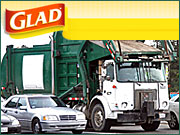 Garbage-truck ads boosted Glad trash bags' New York City market share by two points through December.