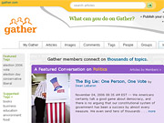 OMG, Political opinion! Gather.com, launched this summer, is a social network for the NPR crowd.
