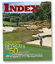Only subscribers with household incomes above $320,000 will receive 'Golf Digest Index.'