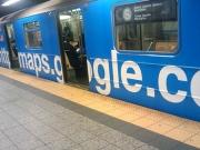 Google wraps the shuttle train
