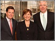 Jeff Haley, president-CEO, RAB; Betsy Lazar, executive director-advertising and media operations, General Motors; and Peter Smyth, president-CEO, Greater Media and recipient of this year's Radio Executive of the Year award.