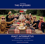 The Hilfigers celebrate the holidays with a picnic in this still from the newest TV spot.