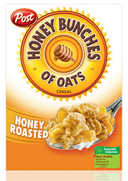 Ralcorp, which recently acquired Post Foods from Kraft, has taken up TV advertising work for its top-selling Honey Bunches of Oats.