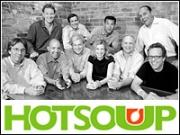 Bottom row (left to right): Carter Eskew, Matthew Dowd, Joe Lockhart, Allie Savarino, Ron Fournier, Mark McKinnon. Top row (left to right): Michael Feldman, Chip Smith, Bart Barden, John deTar