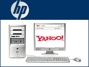 HP has agreed to integrate Yahoo's toolbar into the copies of the Internet Explorer browser it loads on its computers.