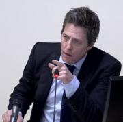 Hugh Grant at the Leveson inquiry into press misconduct.