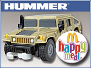 GM and McDonald's have a deal to give away 42 milliion toy Hummers in Happy Meals and Mighty Kids Meals. | Comment on this story in the 'Your Opinion' box below.