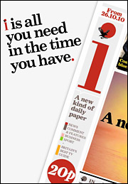 Ads for the new newspaper will appear on posters, buses and subway trains, as well as in the Evening Standard and Independent.