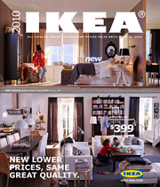 Ikea's 2010 catalog highlights new, lower prices throughout, surely an effort to attract cash-strapped consumers who have been delaying home purchases.