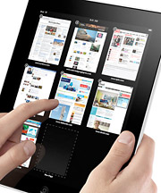 Holding a tablet to flip through a magazine site might not be that much worse than holding a tablet to flip through an issue.