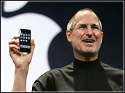 Analysts said there is a potential huge market for the Apple iPhone introduced today by Apple CEO Steve Jobs.