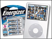 For $29.99, Energizer's Energi to Go external iPod battery will provide up to 46 hours of playing time with two AA Lithium e2 batteries.