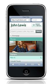 John Lewis announced this week that it was launching a mobile-optimized version of its highly successful website.