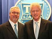TV Land President Larry Jones wants to get Bill Clinton a Nielsen box.