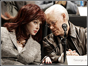 Naomi Judd and George Jones testified at an FCC hearing today during a hearing on media consolidation.