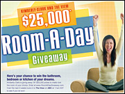 Today's debut of Kimberly-Clark's 'Room a Day Giveaway' on 'The View' included a musical number featuring dancing packages of Cottonelle and Huggies.
