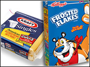 Both Kraft Foods and Kellogg Co. said they will boost their ad outlays despite drops in net income.