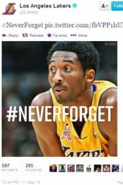 Tweet from the Los Angeles Lakers