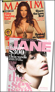 After a down first half for 'Maxim' and 'Jane,' things are looking up thanks to fat September issues.