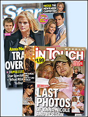 The tabs this week look at the death of Anna Nicole Smith's son.