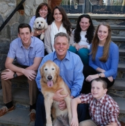 Democrat Terry McAuliffe and family