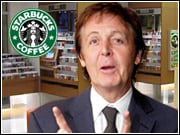Paul McCartney's album will be the first released on the label created by Starbucks Entertainment and Concord Records.