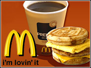 McDonald's began running TV spots in October to promote its Breakfast Dollar Menu and More.