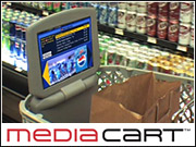 The shopping cart ad system will deliver point-of-decision advertising, on-screen navigation and data on consumer shopping habits.