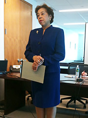NAACP general counsel Laura Blackburne
