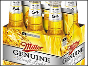 With 64 calories, the new MGD 64 has only a little more than half MGD Light's 110 calories.