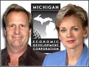 Gov. Jennifer M. Granholm unveiled the new ad effort, which stars actor Jeff Daniels, a Michigan resident.