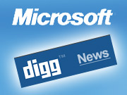 Microsoft will now be selling ads across Digg.com.