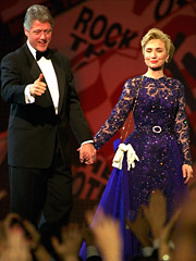 The Clintons at MTV's 1993 'Rock 'n Roll Inaugural Ball.'
