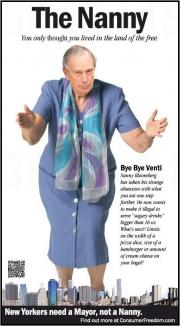 Ad attacking 'Nanny' Bloomberg