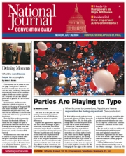 The National Journal will publish a 48-page tabloid-sized convention dailies Sunday through Thursday, as it has in past conventions, and then for the first time this year, also a separate afternoon newsletter.
