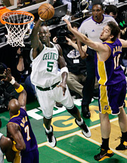 The biggest of this week's games, at least as far as the 18-49 audience is concerned, was the next chapter in the storied Celtic-Laker rivalry.