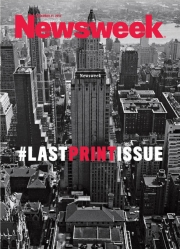 Newsweek's last print issue in the U.S., published in December 2012