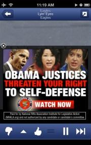 NRA ad on Pandora.