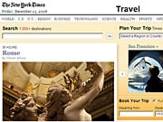 Visitors can now read 'Times' editorial on destinations like Rome, then use an integrated Expedia engine to search out and buy flights, hotels, cruises and packages without leaving the 'Times' site.