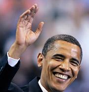 Sen. Barack Obama on Tuesday night.