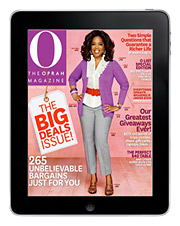 An Ad Age mockup of an iPad app for 'O, The Oprah Magazine.'